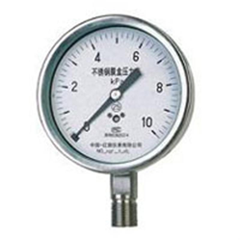 不锈钢膜盒压力表YE-100B、150B白云牌由上海自动化仪表四厂专业供应