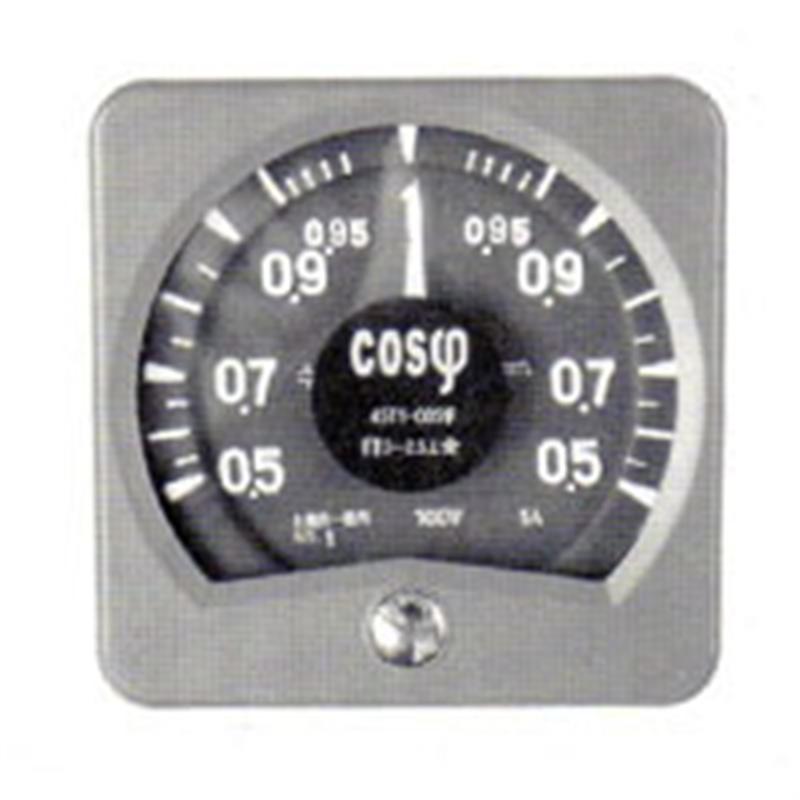 广角度功率因数表45T1-COSΦ由上海自一船用仪表厂专业供应