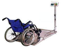 SCS400千克医院用不锈钢轮椅电子秤
