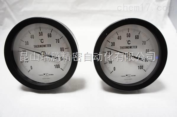 室内用双金属温度计T型1/2,100×100℃,L=150