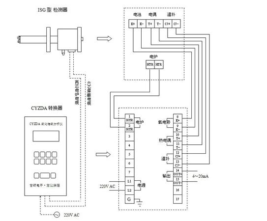 氧化锆安装接线图