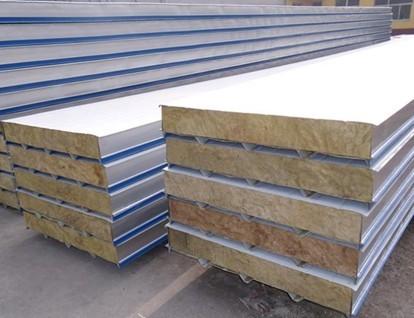 钢结构墙体 彩钢瓦岩棉夹芯复合板厂家 防火铝箔干挂岩棉板价格