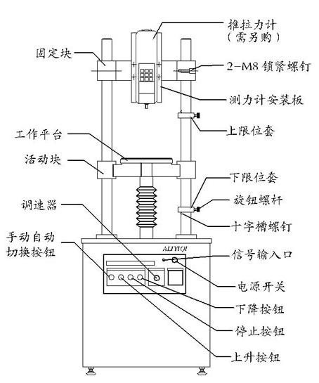 双柱提升机结构图