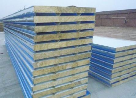 η钢结构彩钢岩棉夹芯复合板η固原厂家彩钢岩棉夹芯板价格η