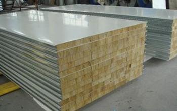 银川 Z低销售价格 防火阻燃彩钢岩棉夹芯板 厂家报价防水彩钢岩棉夹芯板