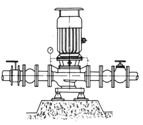 isg立式管道离心泵安装示意图