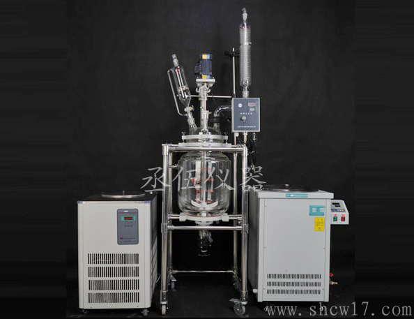 s212-1l-玻璃双层反应釜清洁设备二手图片