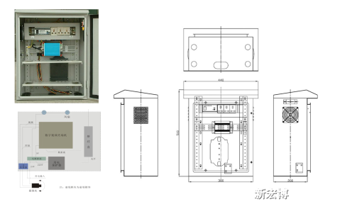 立杆式安装箱体结构图
