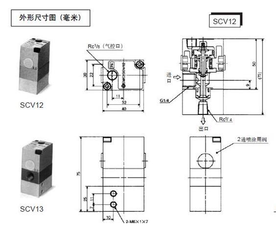 促销smc三通阀scv13-02图片