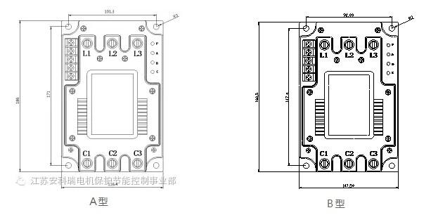 中的电容器投切装置,其基本工作原理是将可控硅和磁保持继电器并联,由